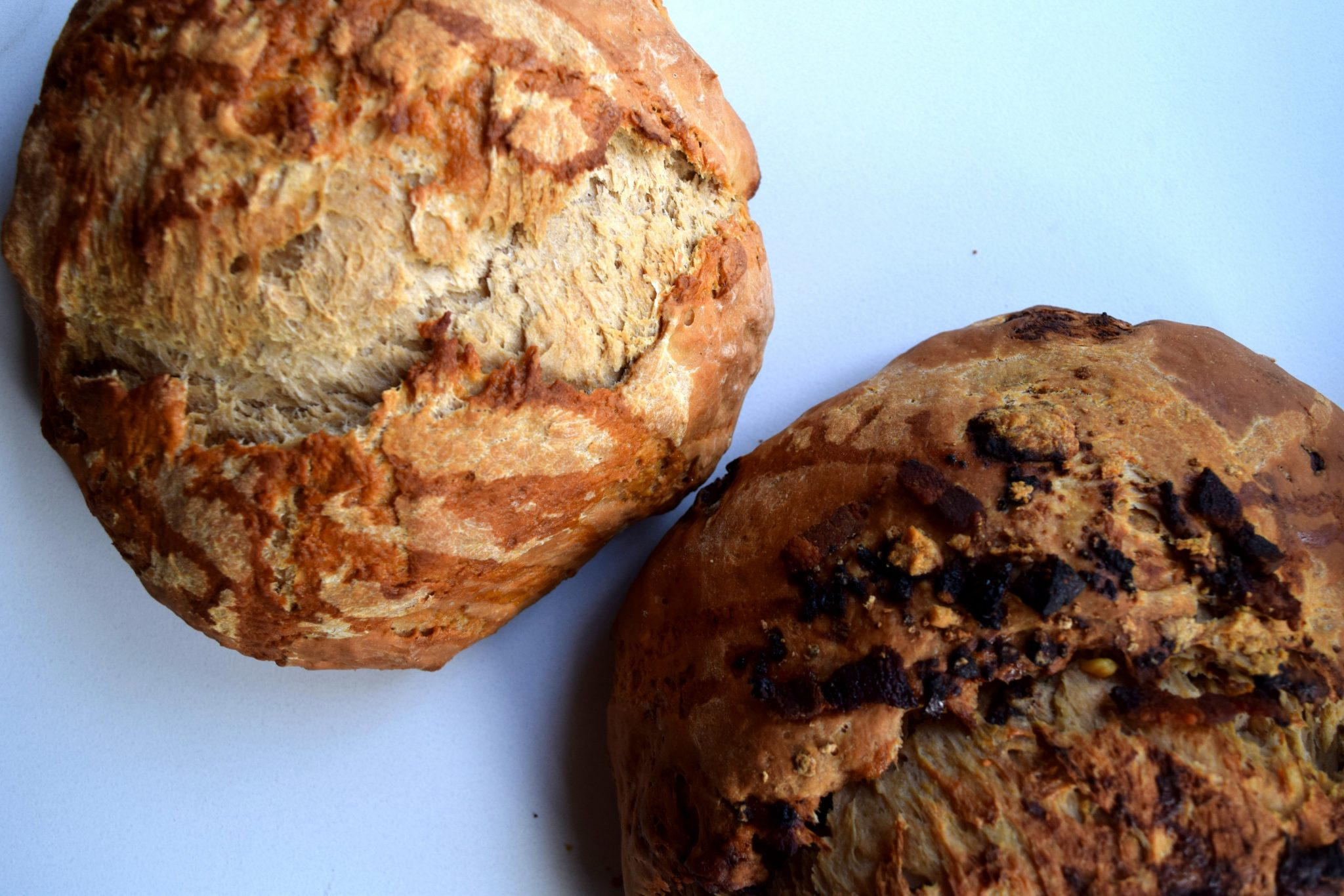 Brown Ale Bread Stuffed with Bacon, Gorgonzola, and Figs