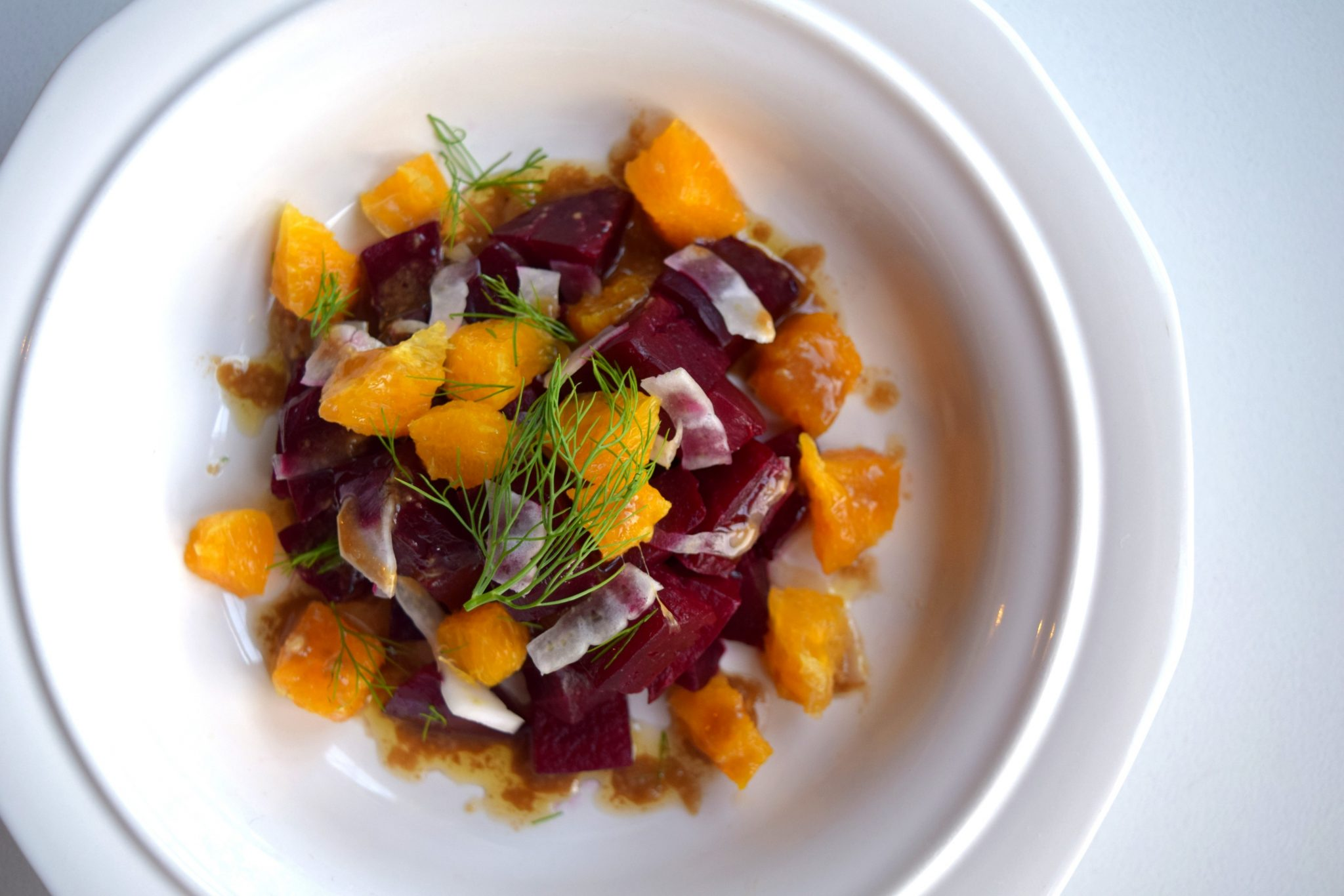 Roasted Beet, Orange, and Fennel Salad with Balsamic Vinaigrette