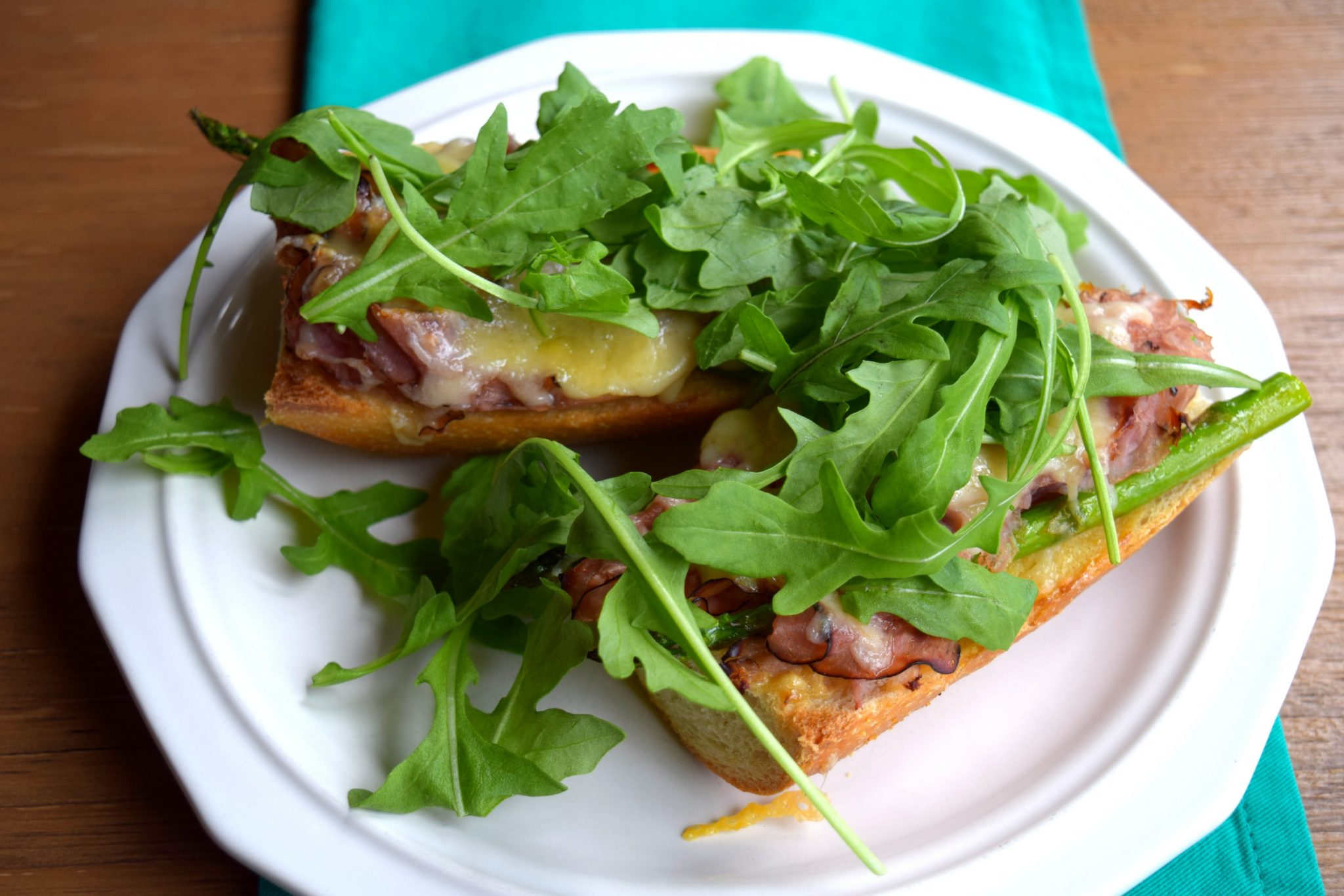 Ham, Gruyere, and Asparagus Tartine