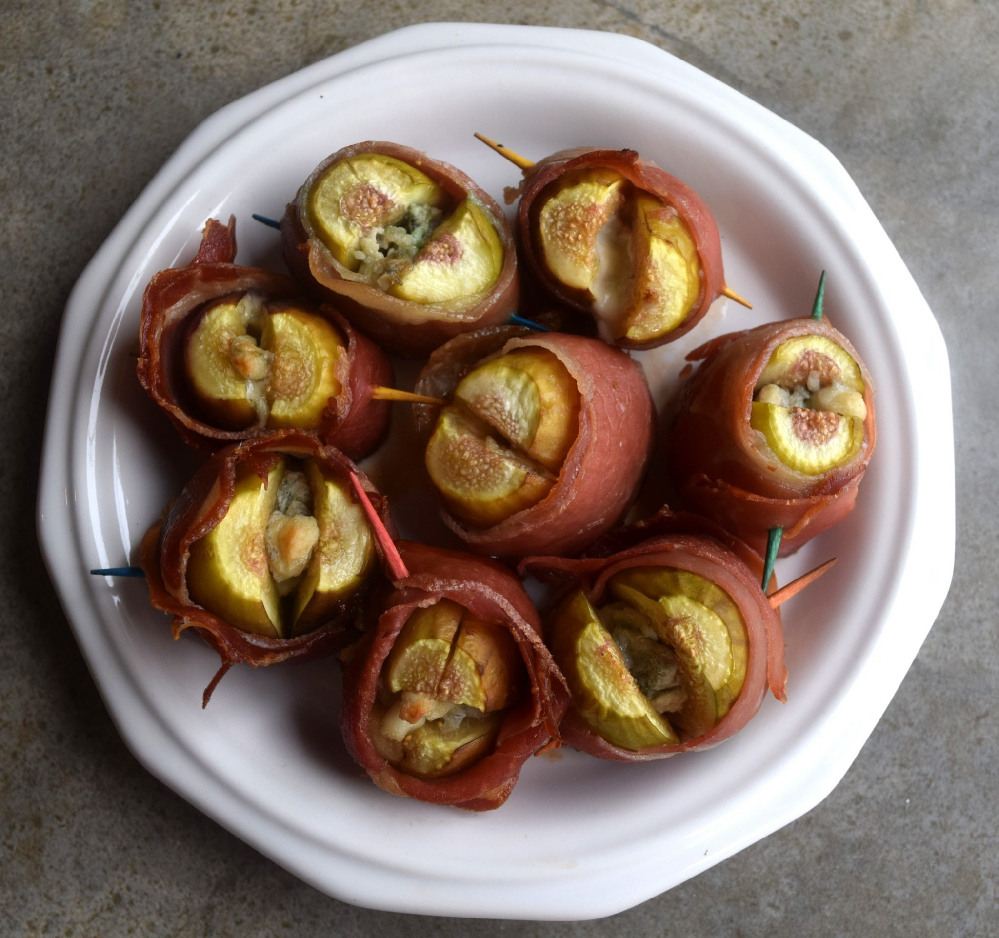 Stuffed and Bacon Wrapped Figs