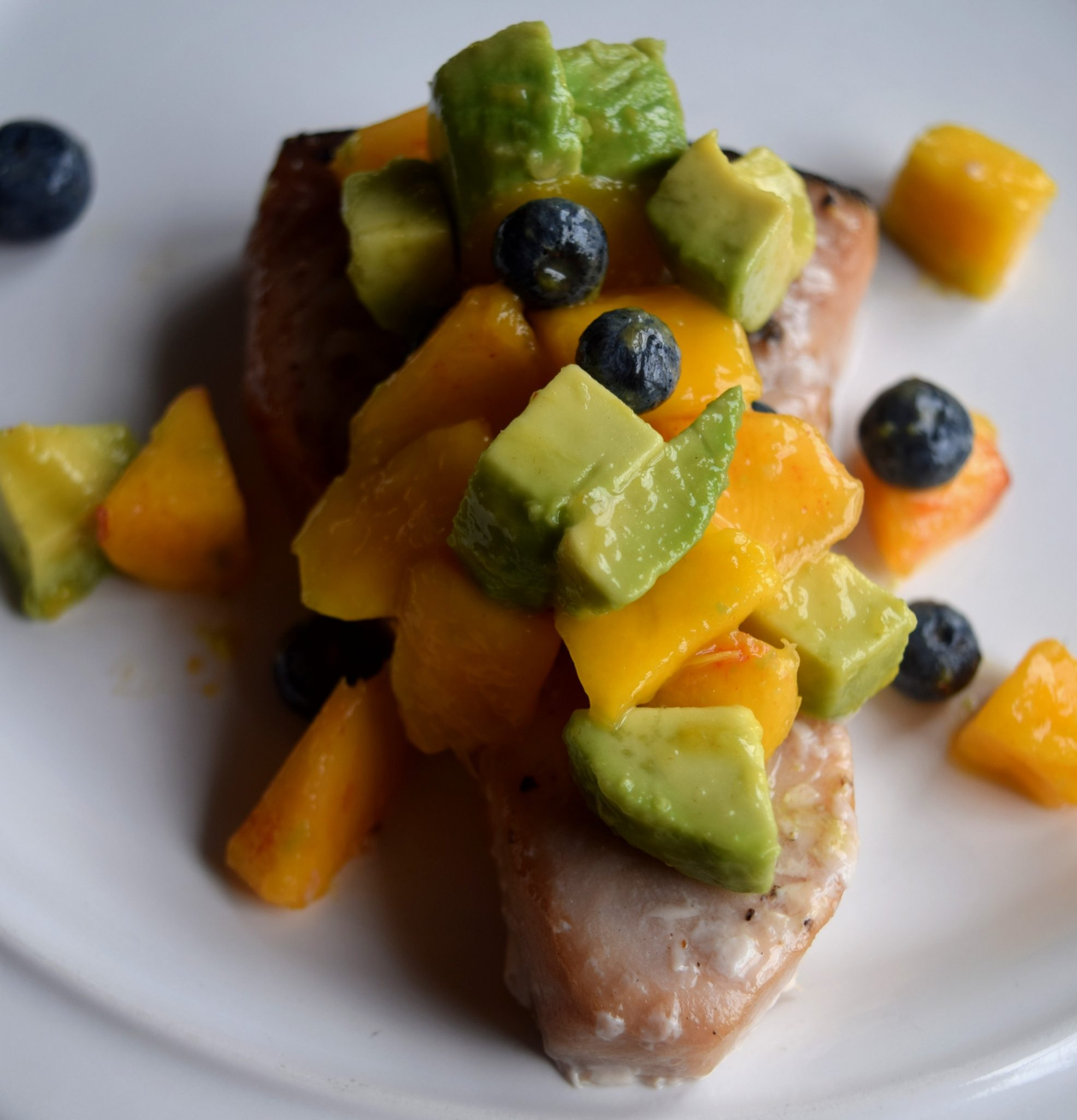 Grilled Swordfish with Summer Fruit Salsa