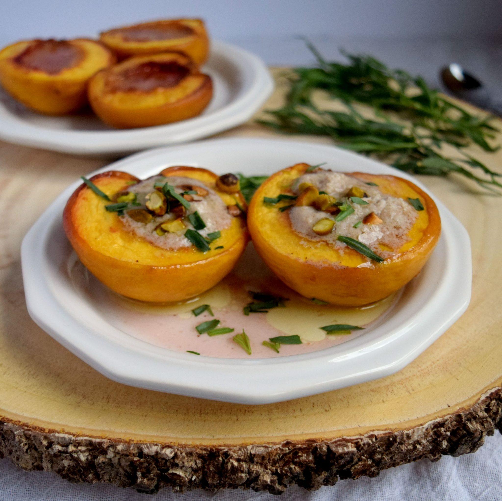 Honey Roasted Peaches with Mascarpone