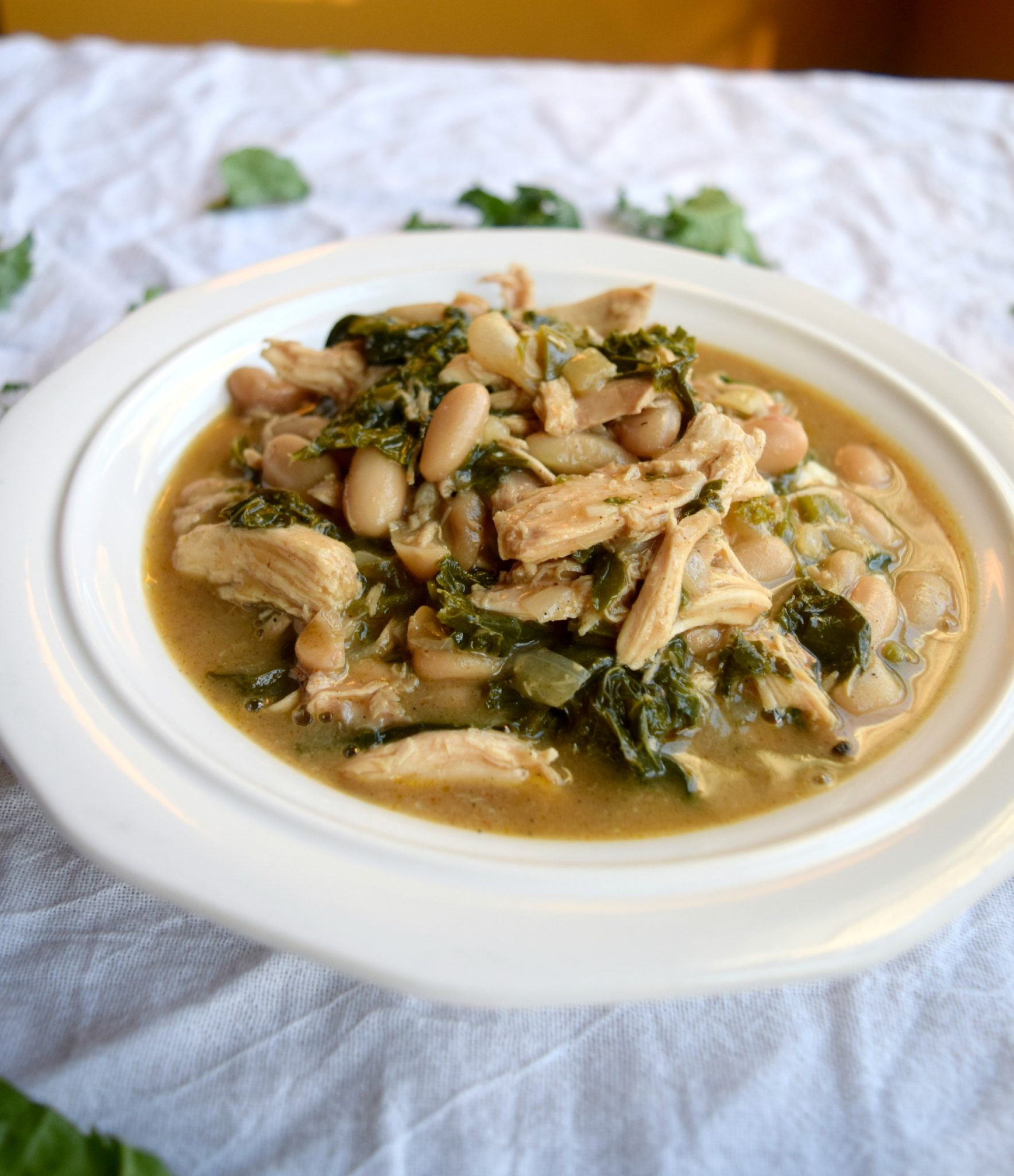 Chicken, Kale, and White Bean Chili