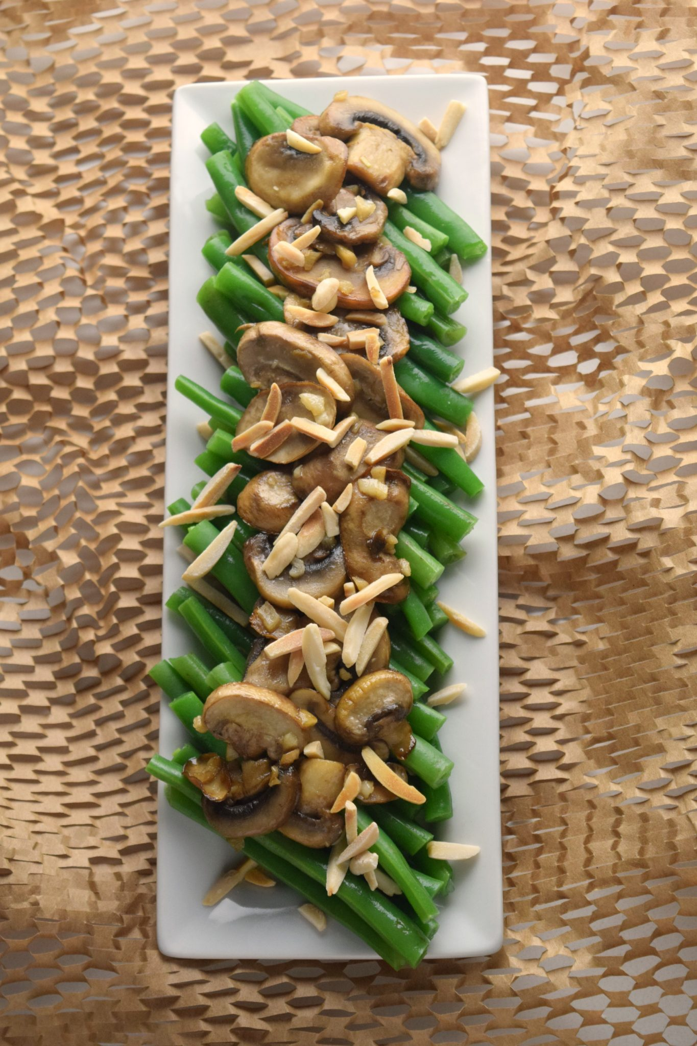 Green Bean Mushroom Almondine