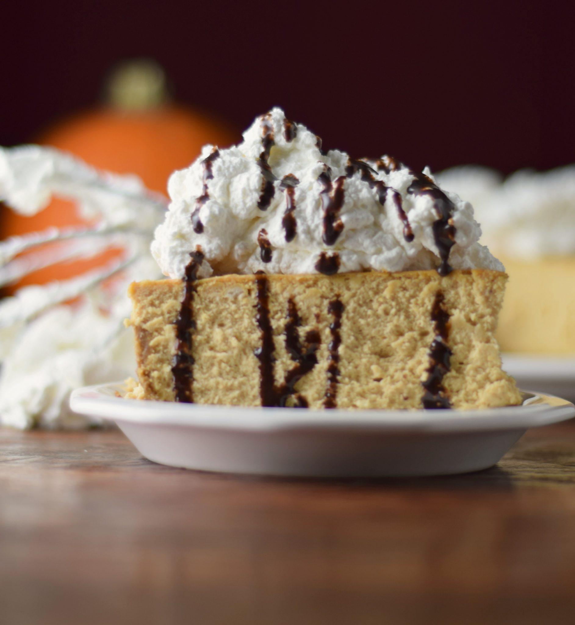 Pumpkin Cheesecake, Bourbon Whipped Cream + GIVEAWAY