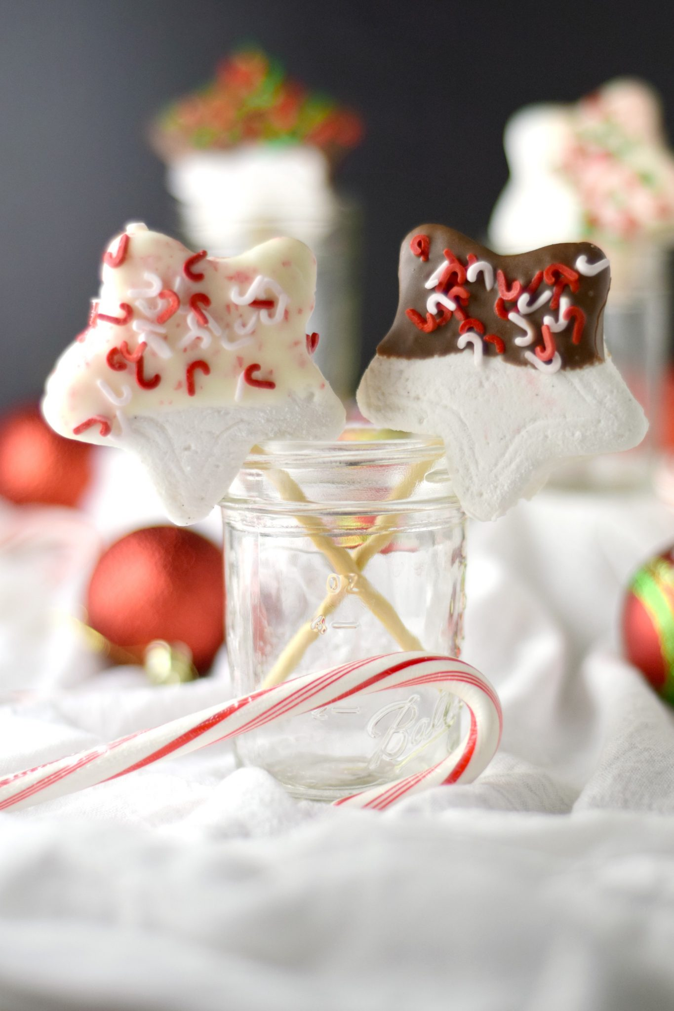 Chocolate and Candy Cane Homemade Marshmallows