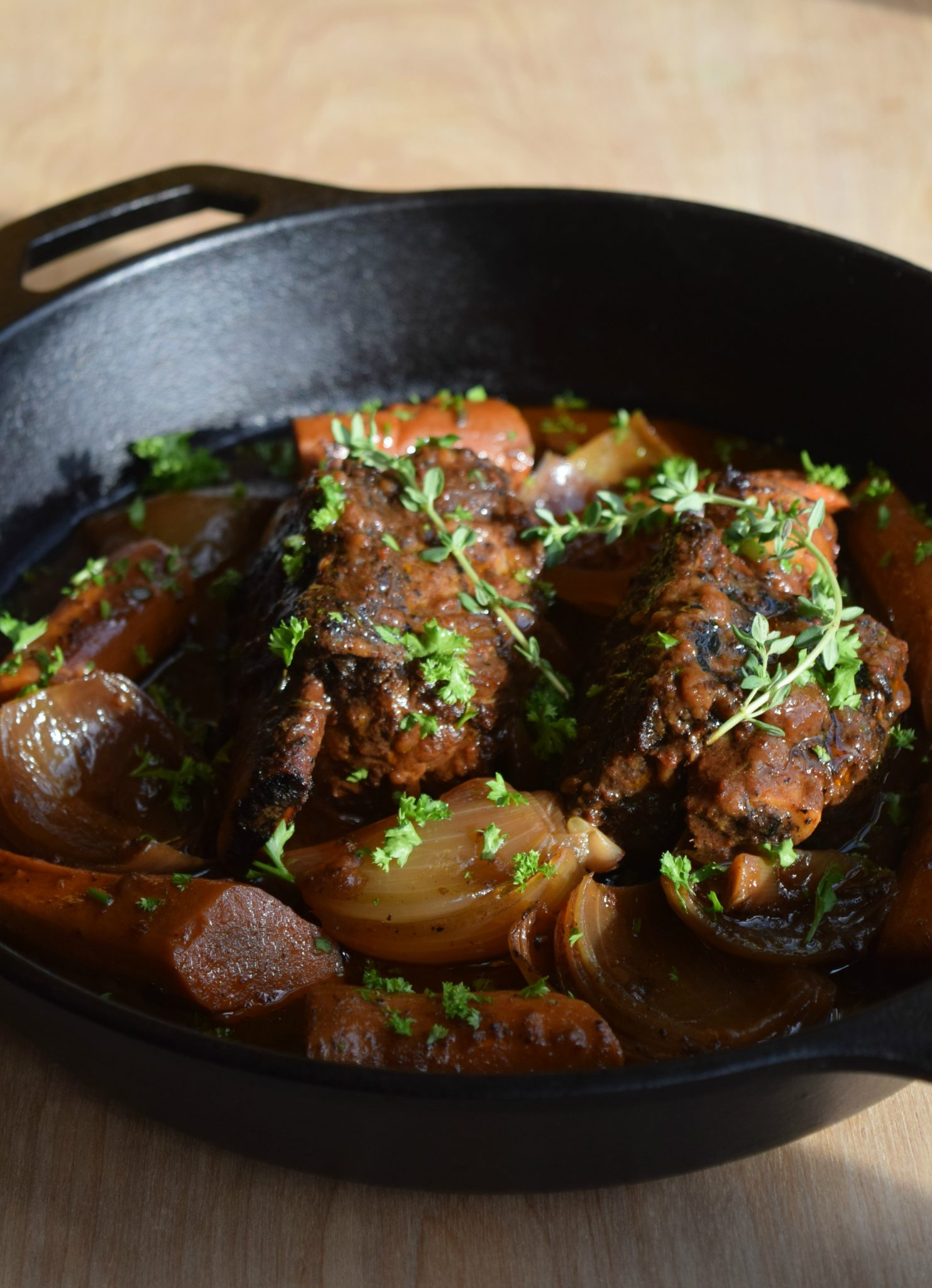 Sweet Josie Brown Ale Beer Braised Chuck Short Ribs Pot Roast