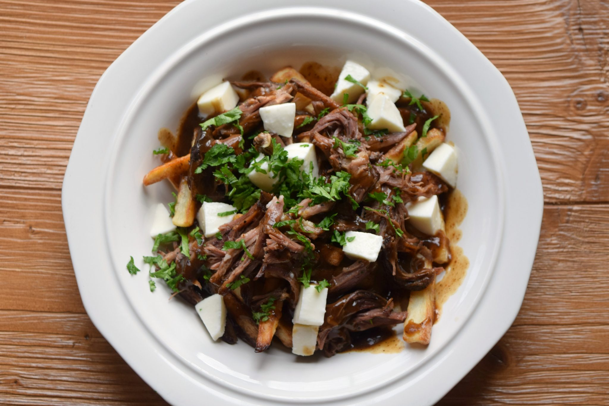 GIVEAWAY + Poutine with Repourposed Sweet Josie Brown Ale Braised Short Ribs