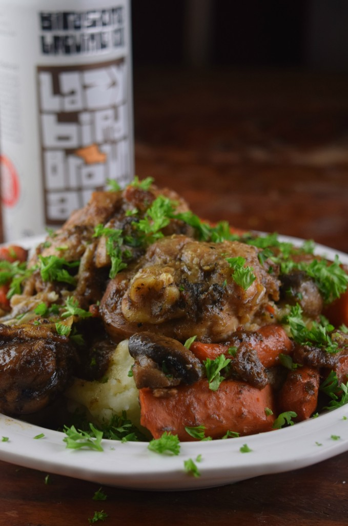 Lazy Bird Brown Ale Coq au Vin