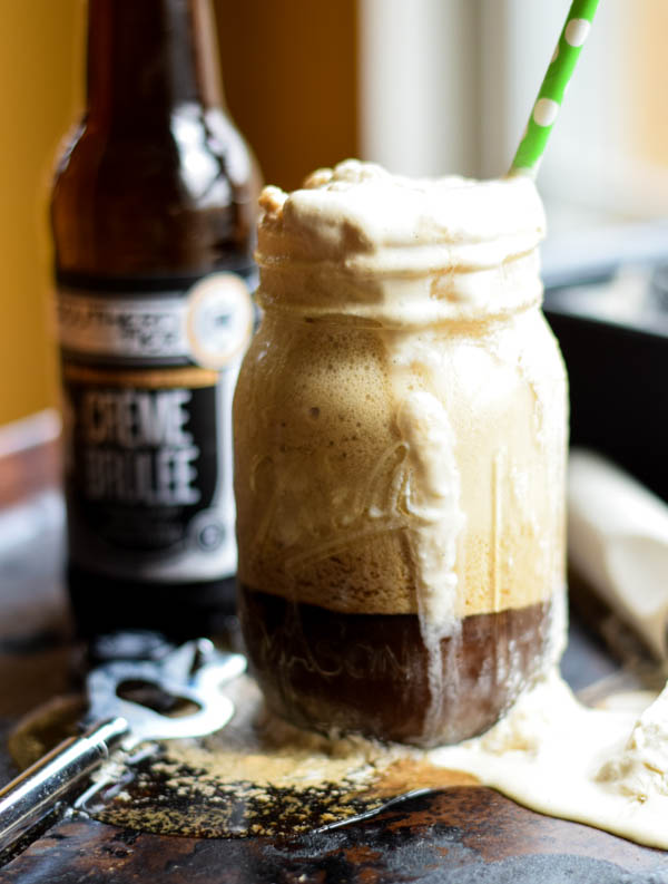 Creme Brulee Stout Ice Cream Float