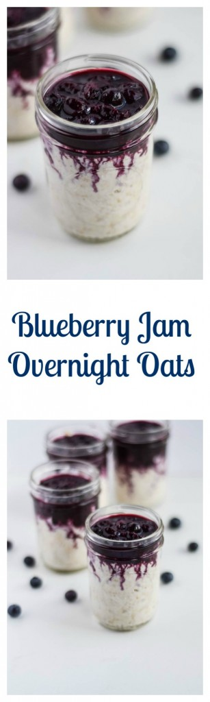Blueberry Jam Overnight Oats