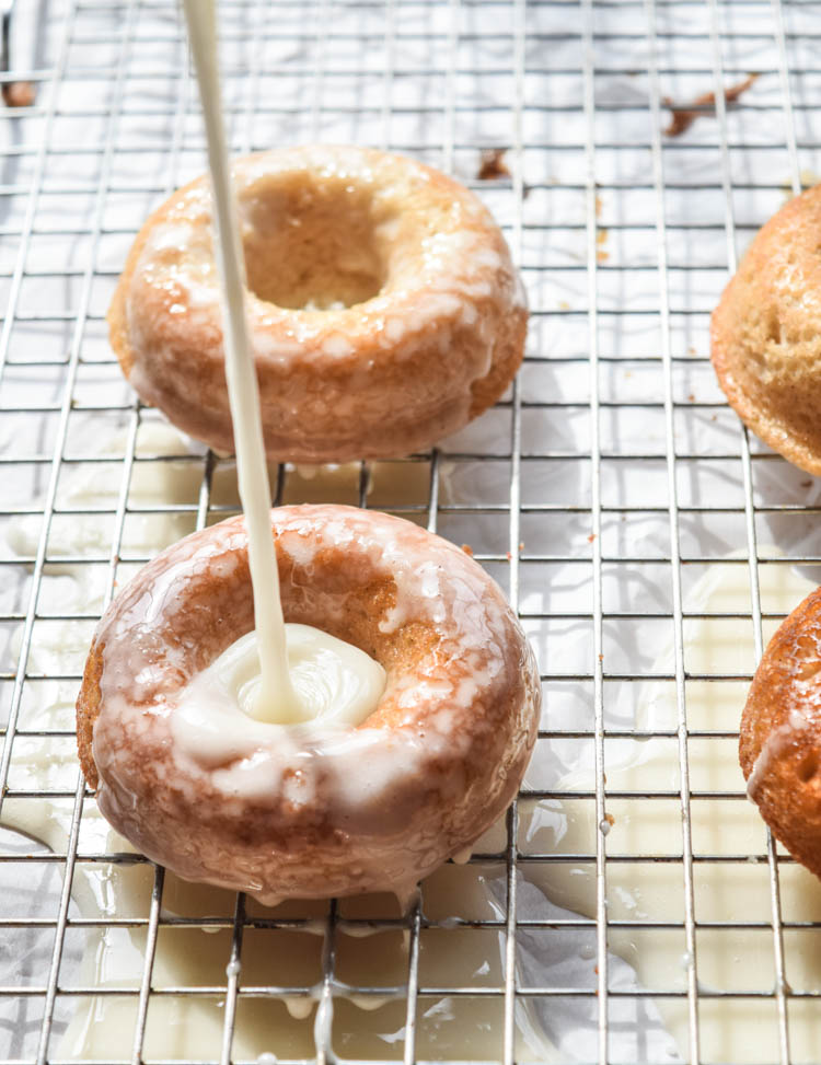 Cara Cara Orange and White Chocolate Glazed Doughnuts
