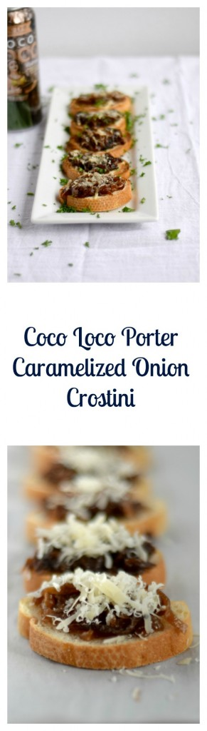 Coco Loco Porter Caramelized Onion Crostini