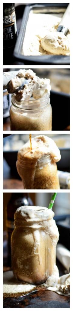 Creme Brulee Stout Ice Cream Float
