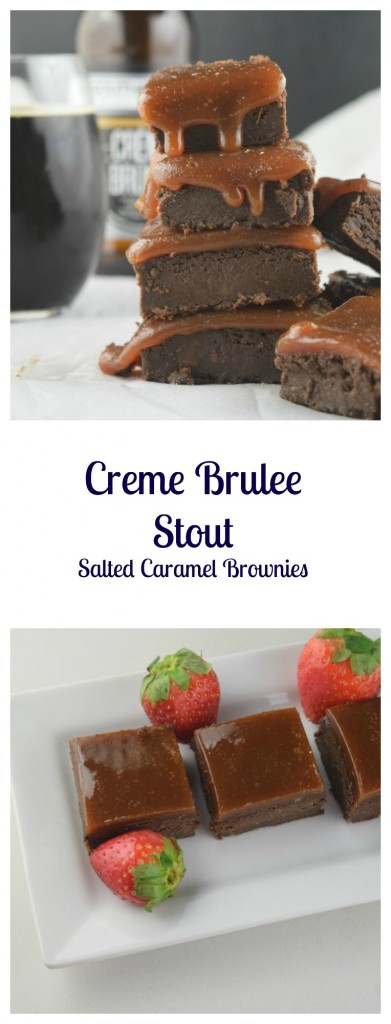Creme Brulee Stout Salted Caramel Brownies