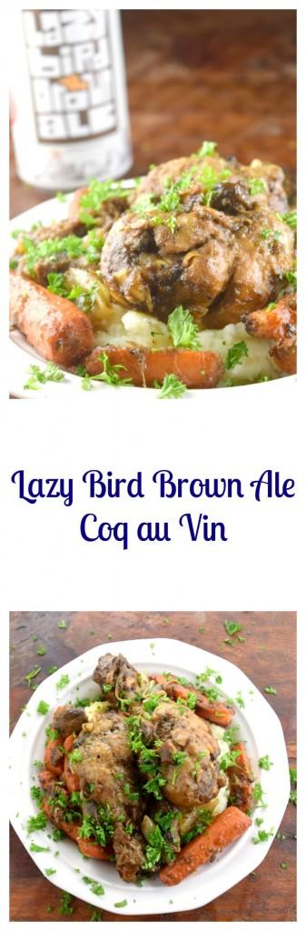 Lazy Bird Brown Ale Coq au Vin