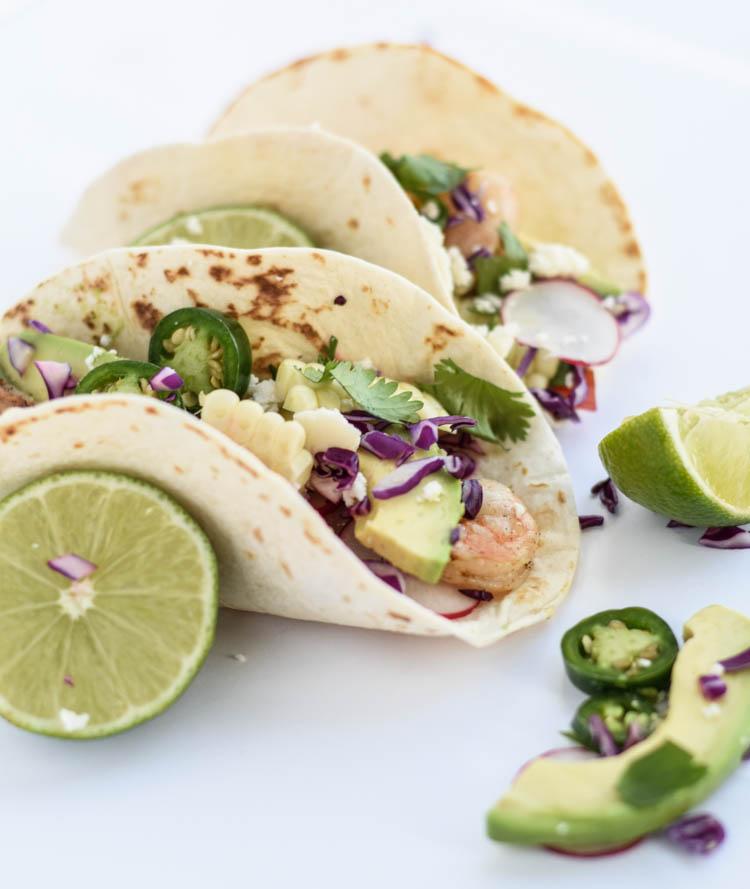 Shrimp Tacos with Avocado Salsa - Beer Girl Cooks