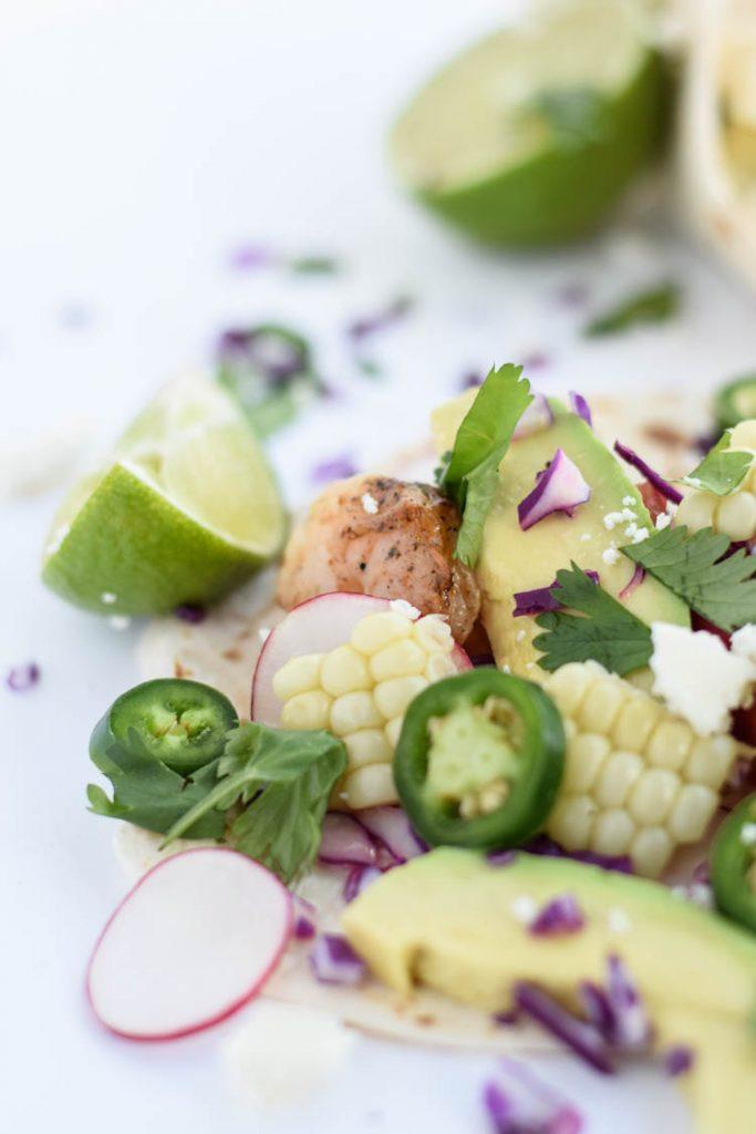 Shrimp Tacos with Avocado Salsa