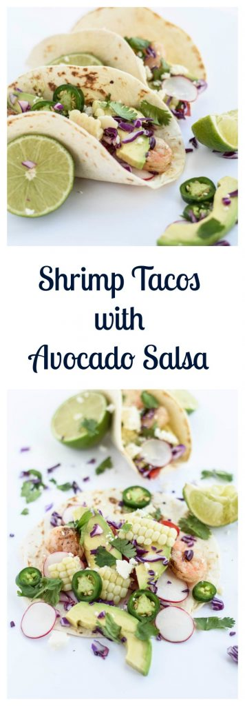 Shrimp Tacos with Avocado Salsa