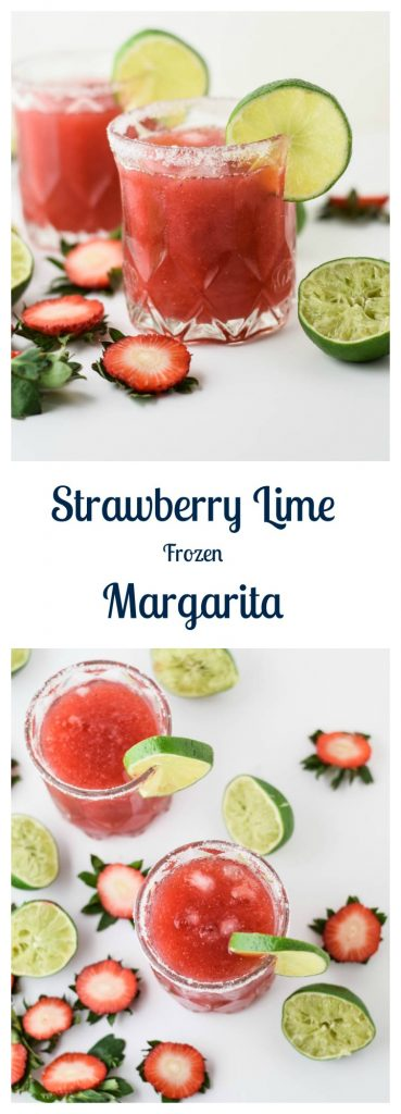 Strawberry Lime Frozen Margarita