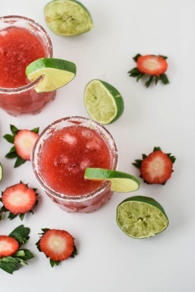 Strawberry Lime Frozen Margarita