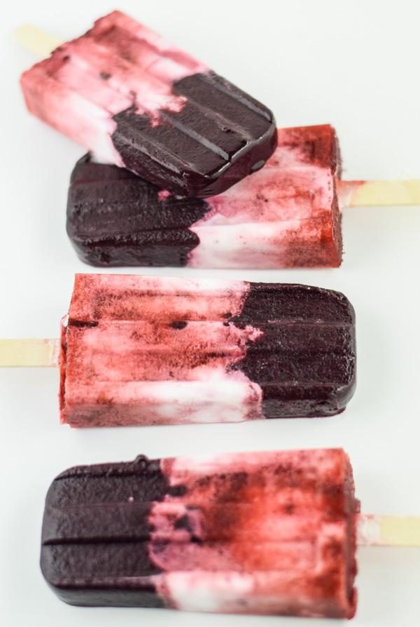 Boozy Red White and Blueberry Limoncello Popsicles-5