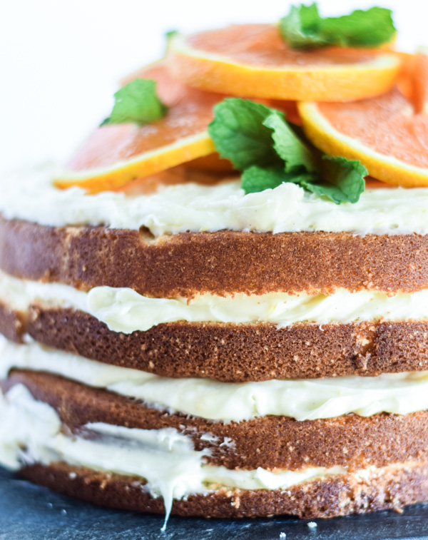Cara Cara Orange Layer Cake with Citrus Cream Cheese Frosting