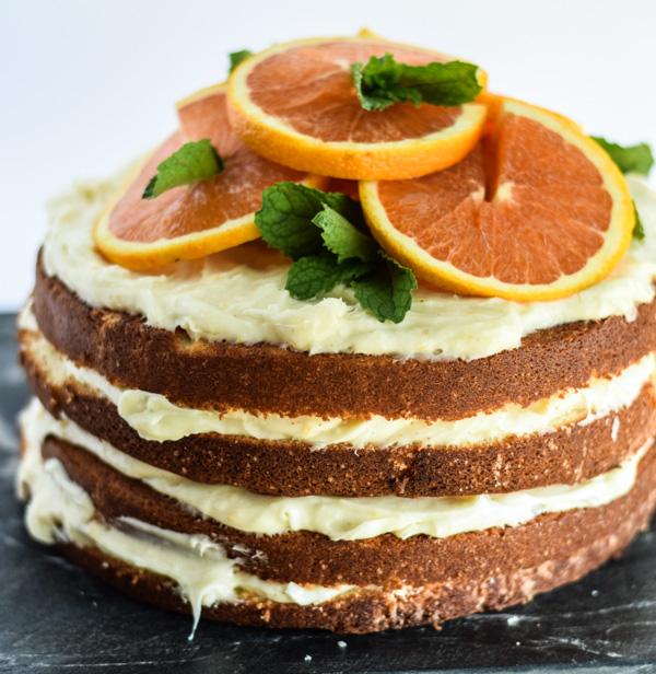 Cara Cara Orange Layer Cake with Citrus Cream Cheese Frosting