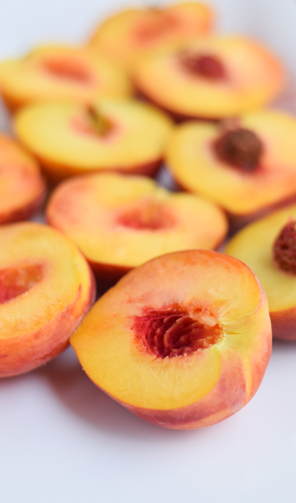 Bourbon Brown Sugar Peaches and Cream No-Churn Ice Cream