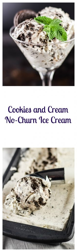 Cookies and Cream No-Churn Ice Cream