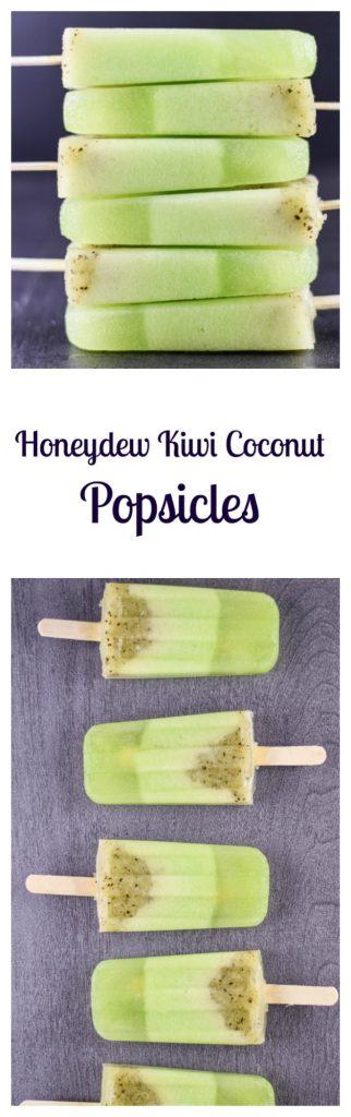 Honeydew Kiwi Coconut Popsicles