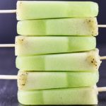 Honeydew Kiwi Coconut Popsicles