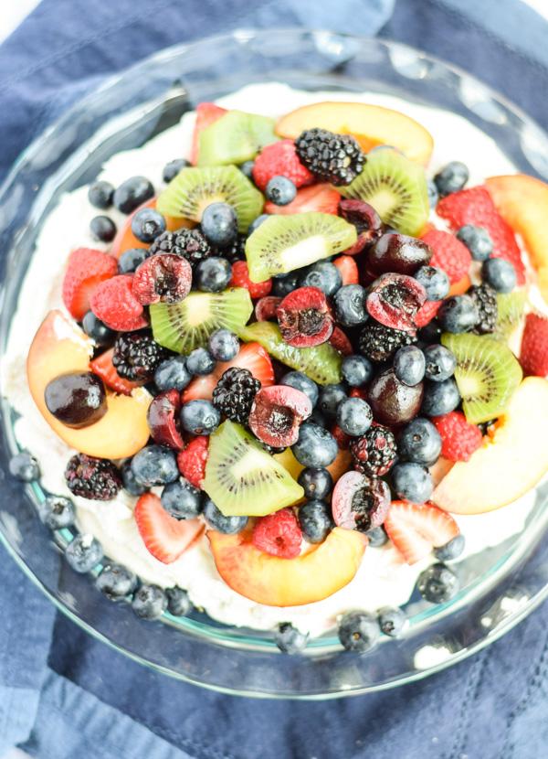Mixed Summer Fruit Pavlova