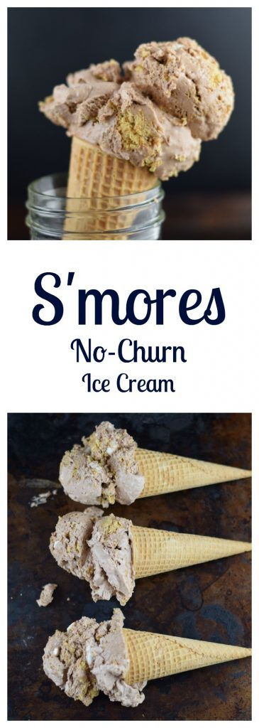 S'mores No-Churn Ice Cream