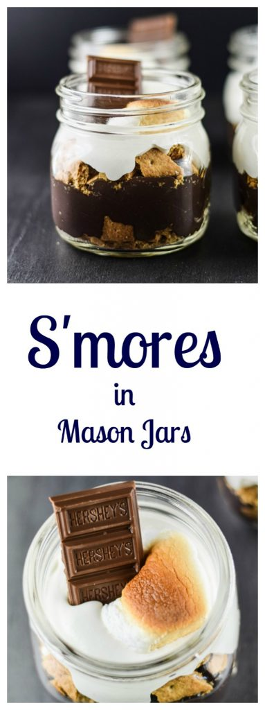 S'mores in Mason Jars