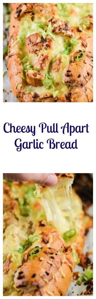 Cheesy Pull Apart Garlic Bread Recipe