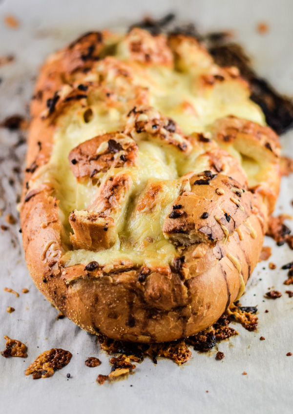 Cheesy Pull Apart Garlic Bread Recipe