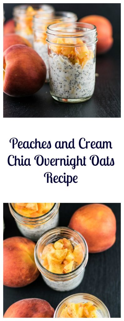 Peaches and Cream Chia Overnight Oats Recipe