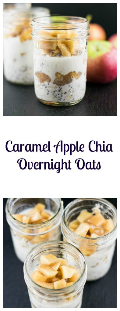 Caramel Apple Chia Overnight Oats Recipe