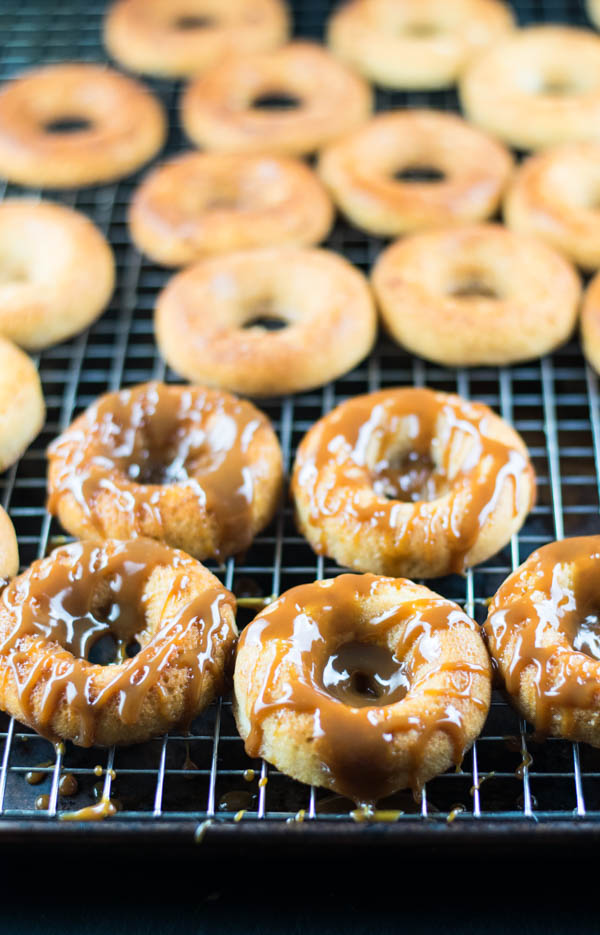 Caramel Apple Baked Donuts Recipe