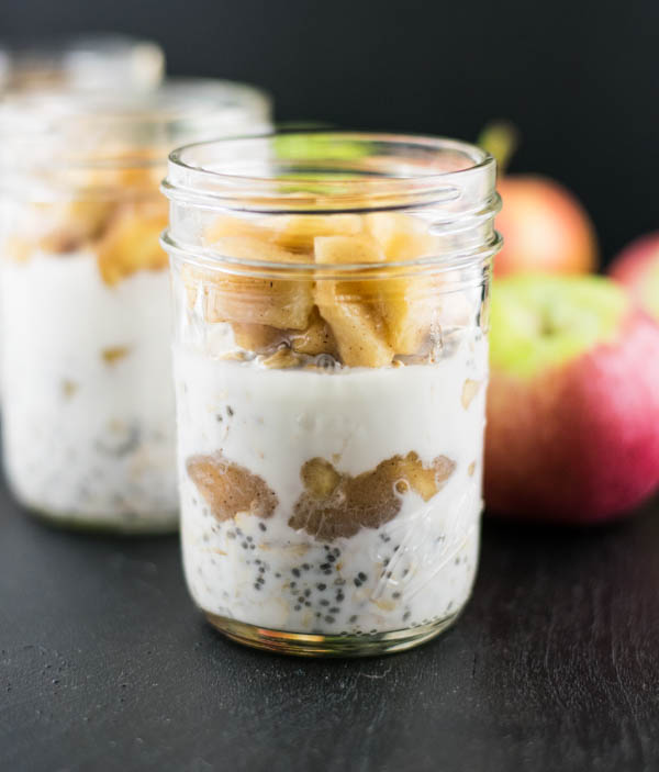 Caramel Apple Chia Overnight Oats Recipe