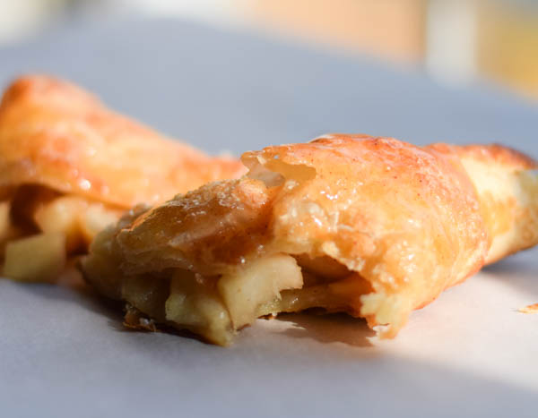 Easy Caramel Apple Puff Pastry Turnover Recipe
