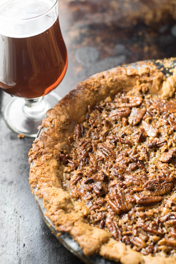 Vanilla Stout Pecan Pie