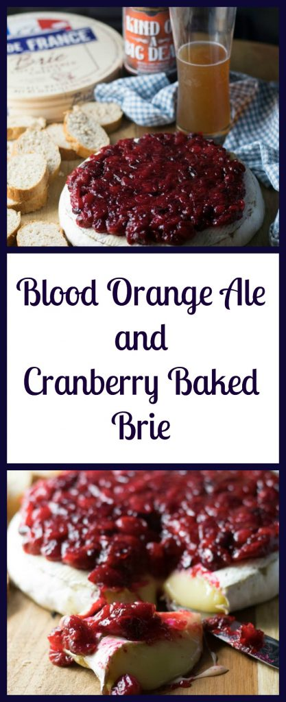 Blood Orange Ale and Cranberry Baked Brie