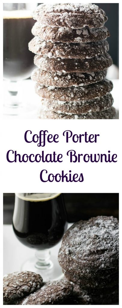 Coffee Porter Chocolate Brownie Cookies