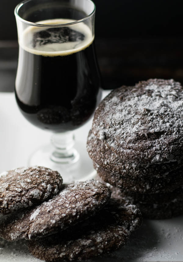 Coffee Porter Chocolate Brownie Cookies combines favorite treats of chocolate, brownies, and cookies with a delicious coffee porter perfect for the holidays