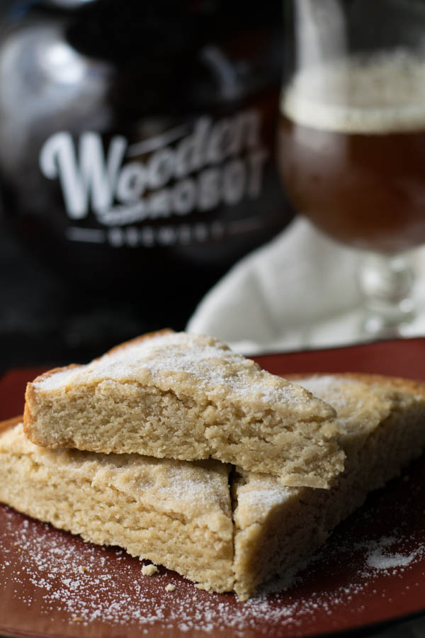 Sweet Potato Ale Shortbread is an amazing transformation of a traditional classic treat infused with some Sweet Potato Ale for a craft beer surprise