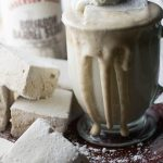 White Hot Chocolate with Bourbon Barrel Stout Marshmallows