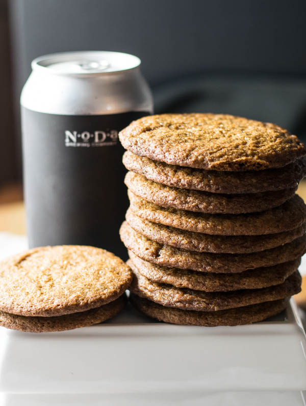 Russian Imperial Bourbon Aged Stout Gingersnap Cookies is a recipe filled with a perfect balance of spicy and sweet for an adult version of a winter treat