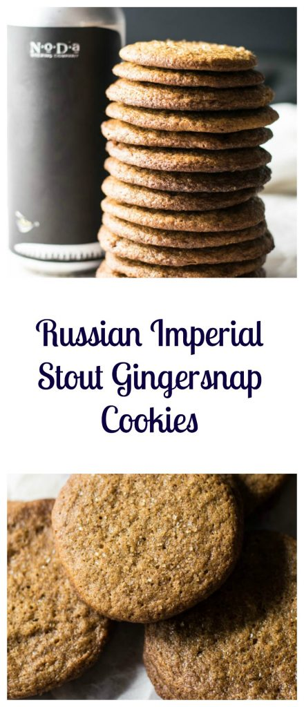 Russian Imperial Stout Gingersnap Cookies